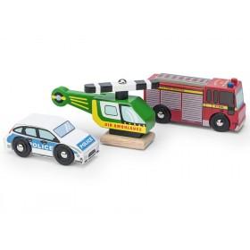 Le Toy Van Notfall-Fahrzeug-Set