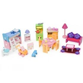 Le Toy Van Puppenhaus Möbel Set deluxe
