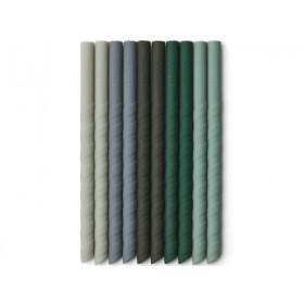LIEWOOD 10 Strohhalme aus Silikon TIMOTI Green Multi Mix