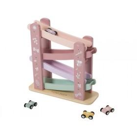 Little Dutch Holz-Rennbahn pink