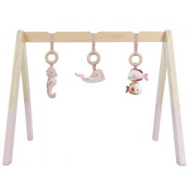 Little Dutch Baby Gym Spieltrapez OCEAN rosa