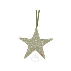 Little Dutch Spieluhr Stern WILD FLOWERS olivgrün