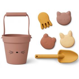 LIEWOOD Dante Sand-Spielzeug KATZE altrosa mix