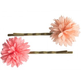 Maileg 2 Haarklammern CHIFFONBLÜTEN rosa