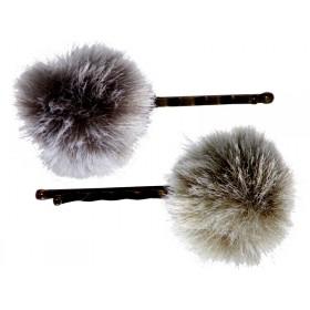 Maileg 2 Haarklammern Grau/Dunstgrün