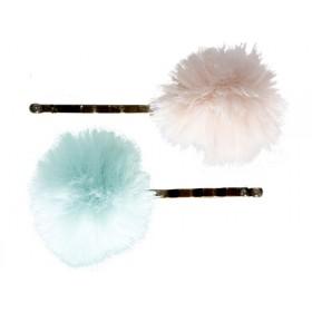 Maileg 2 Haarklammern Puderrosa/Mint