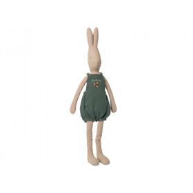 Maileg Hase mit OVERALL dunkelgrün (Größe 5)