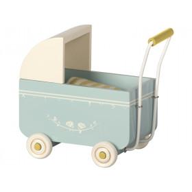Maileg Puppen-Kinderwagen MY hellblau