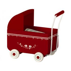 Maileg Puppen-Kinderwagen MY rot