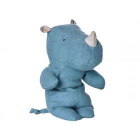 Maileg Nashorn Safari Friends RHINO blau S
