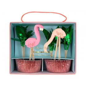 Meri Meri Muffin-Set FLAMINGO