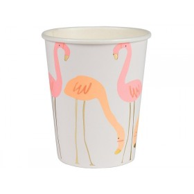 Meri Meri 8 Party Pappbecher FLAMINGO