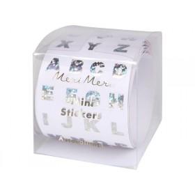 Meri Meri 500 Sticker ALPHABET SILBER