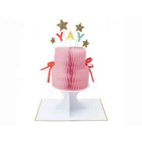 Meri Meri 3D-Grußkarte YAY! Geburtstagskuchen