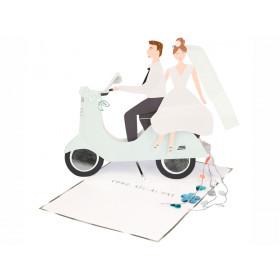 Meri Meri 3D-Grußkarte HOCHZEITSPAAR Congratulations