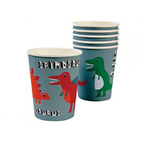 Meri Meri Party Cups Pappbecher DINOSAURIER