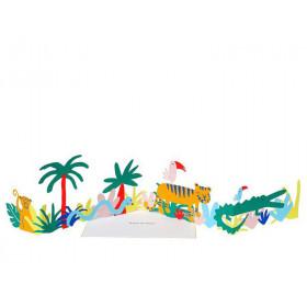 Meri Meri 3D-Grußkarte DSCHUNGEL Happy Birthday
