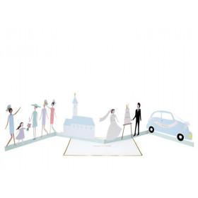 Meri Meri 3D-Grußkarte FRISCH VERHEIRATET Congratulations