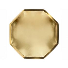 Meri Meri 8 Große Pappteller GOLD