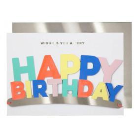 Meri Meri Grußkarte PARTYKRONE Happy Birthday
