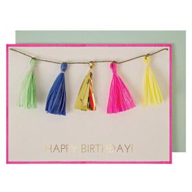 Meri Meri Grußkarte QUASTEN Happy Birthday