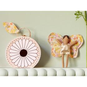 Meri Meri Minipuppe im Koffer SCHMETTERLING Blumen