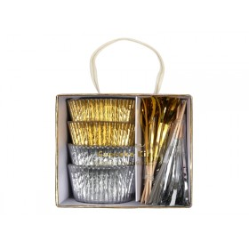 Meri Meri Muffin Set GOLD & SILBER