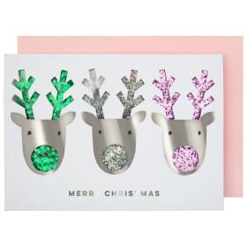 Meri Meri Weihnachtskarte RENTIERE