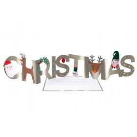 Meri Meri 3D Weihnachtskarte CHRISTMAS
