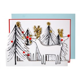Meri Meri 3D Weihnachtskarte RENTIERE