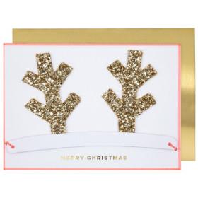 Meri Meri 3D Weihnachtskarte RENTIER KRONE