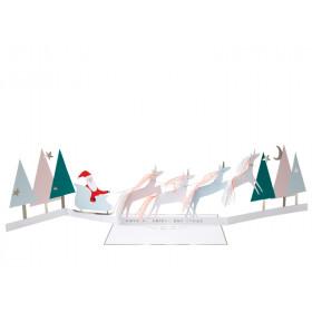 Meri Meri 3D Weihnachtskarte SANTA'S EINHÖRNER