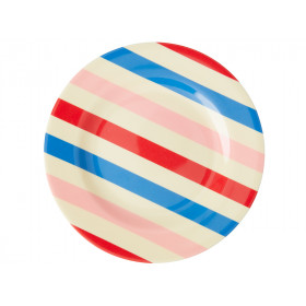 RICE Kleiner Melamin Teller CANDY STRIPES
