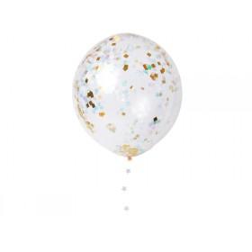 Meri Meri Ballon-Set KONFETTI irisierend