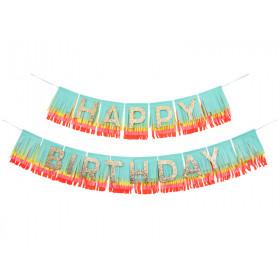 Meri Meri Regenbogen Girlande HAPPY BIRTHDAY