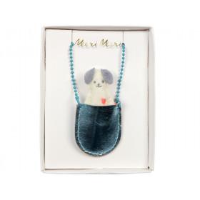 Meri Meri Halskette HUND in Tasche