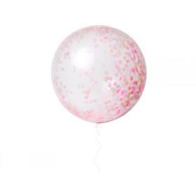 Meri Meri Riesen-Luftballons mit Konfetti pink