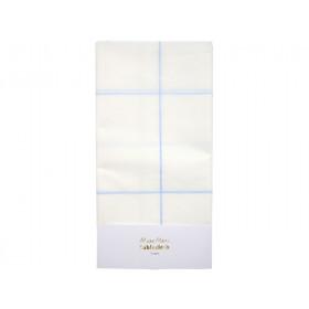 Meri Meri Papier Tischdecke GITTER blau