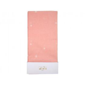 Meri Meri Papier Tischdecke STERNE rosa