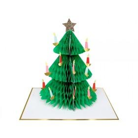 Meri Meri 3D Weihnachtskarte WEIHNACHTSBAUM