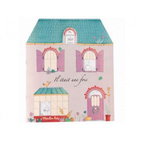 Moulin Roty Malbuch mit Stickern ES WAR EINMAL