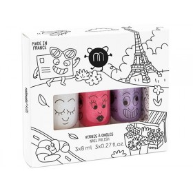 nailmatic kids Nagellack 3er Set CITY3