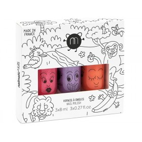 nailmatic kids Nagellack 3er Set JUNGLE3
