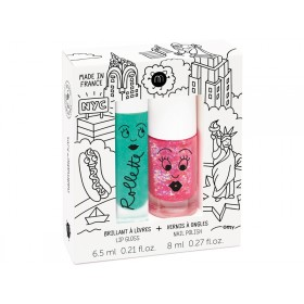 nailmatic kids Lipgloss + Nagellack Set NEW YORK