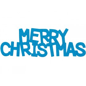 Overbeck & Friends Glitzer-Schriftzug Merry Christmas türkis