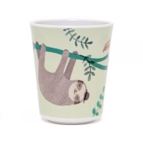 Petit Monkey Melaminbecher FAULTIER grün