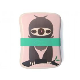 Petit Monkey Bambus Lunchbox FAULTIER rosa