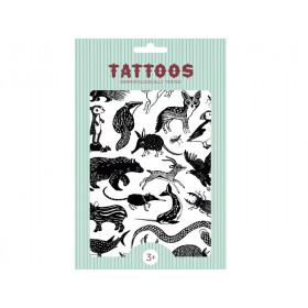 Petit Monkey Tattoos TIERE SCHWARZ-WEISS