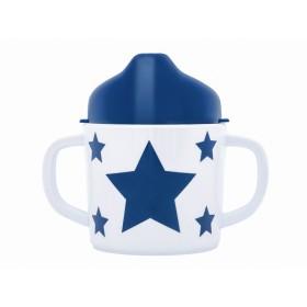 Pimpalou Zwei-Henkel-Becher STERN blau