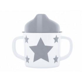 Pimpalou Zwei-Henkel-Becher STERN grau
